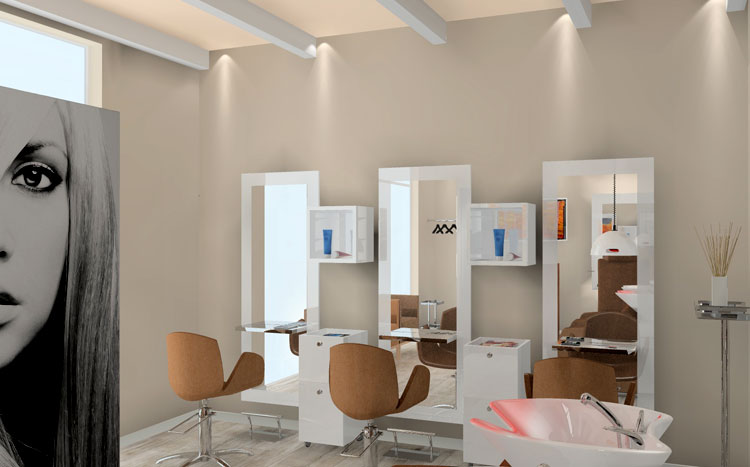 PROGETTAZIONE SALONE PARRUCCHIERA - BYBLOS HAIR STYLY
